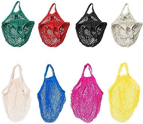 Bolsa de algodón orgánico tejido Jooks, para compra, playa, reutilizable, color blanco: Amazon.es: Hogar