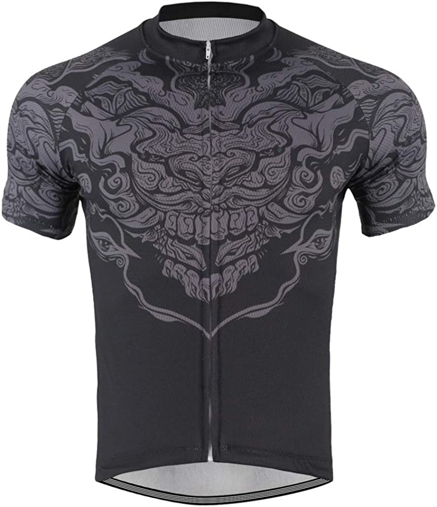 Men's Quick Dry Bike Shirt 3 Rear Pockets Cycling Jersey Athletic Tops
