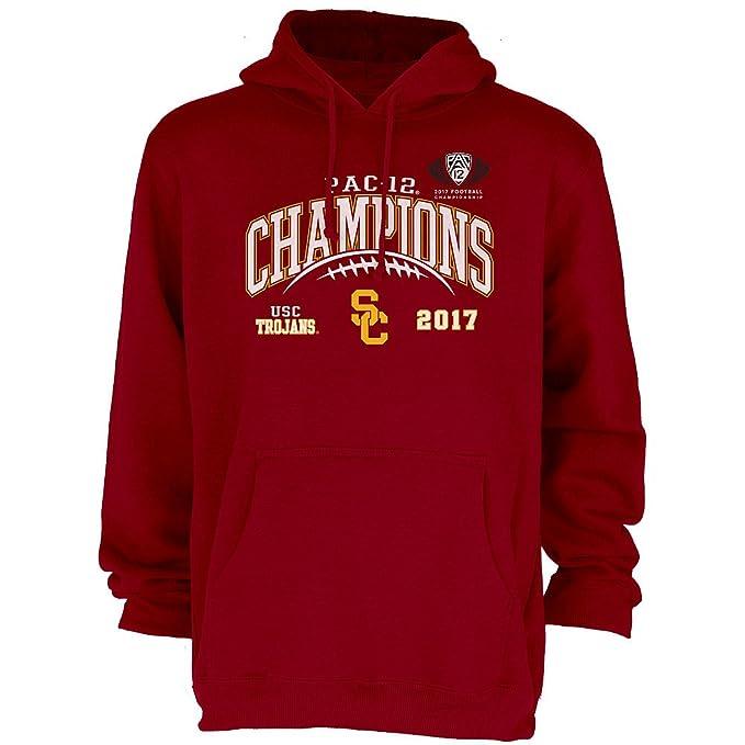 separation shoes 5035e 63319 Elite Fan Shop USC Trojans Pac-12 Champs Hooded Sweatshirt 2017 Cardinal -  XL
