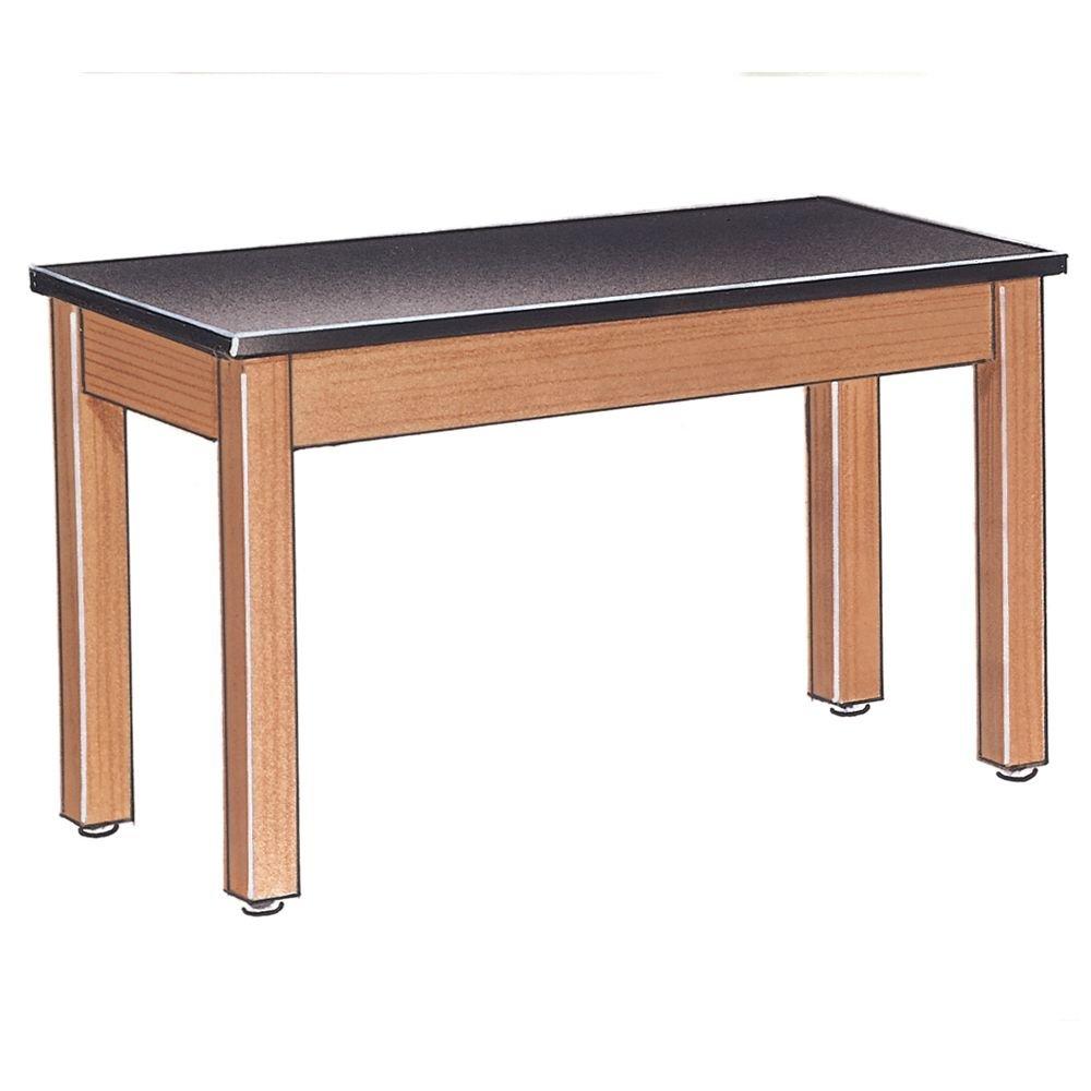 Diversified Woodcrafts P7102K30N - 24''x48'' - 30'' High, Plain Apron Laboratory Table, Red Oak Legs & Apron, ChemGuard Top, Made in USA by Diversified Woodcrafts (Image #1)