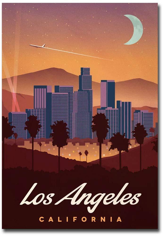 "Los Angeles Vintage Travel Art Refrigerator Magnet Size 2.5"" x 3.5"""