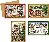 Coppenrath 'Christmas Animals Selection of Advent Calendar Cards' Pack of 4 Different Designs
