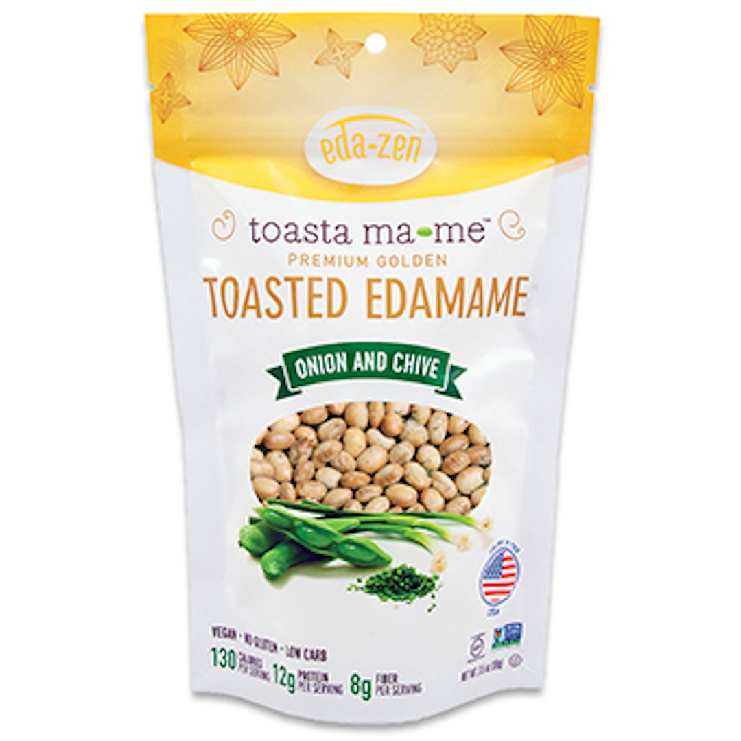 Eda-Zen Toasted Edamame Snacks, Onion & Chive, 3.5 Ounce (Pack of 6)