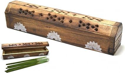 Caja de incienso de madera Joss Sticks Box Varitas de incienso ...