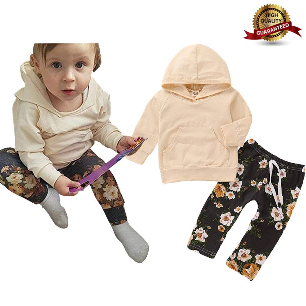 Baby Girl Clothes Toddler Girl Clothes Baby Girl Outfits Long Sleeve Flowers Hoodie Set