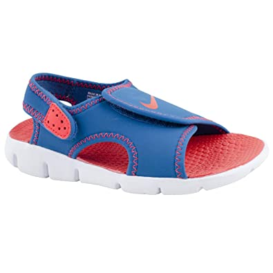 962ffb92be Nike Boy Junior Sunray Adjust Blue/Red Sandals Size 2.5: Amazon.co ...