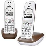 Gigaset AS405 Duo Chocolat Téléphone sans Fil DECT/GAP