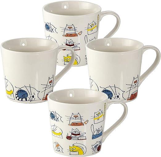 Juego 4 Tazas de Café Te Originales, Tazas Graciosas Grande Mug ...