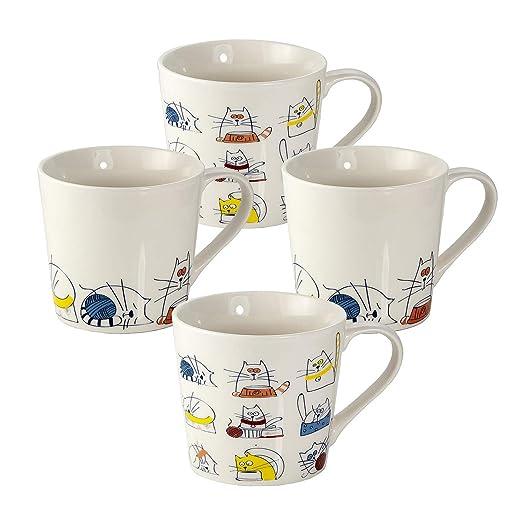Juego 4 Tazas de Café Te Originales, Tazas Graciosas Grande ...
