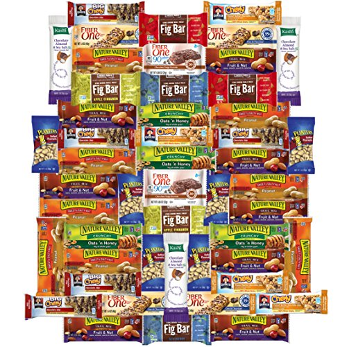 Healthy Bars & Snacks Care Package Variety Pack (50 Count) (Combo Gourmet Snack)
