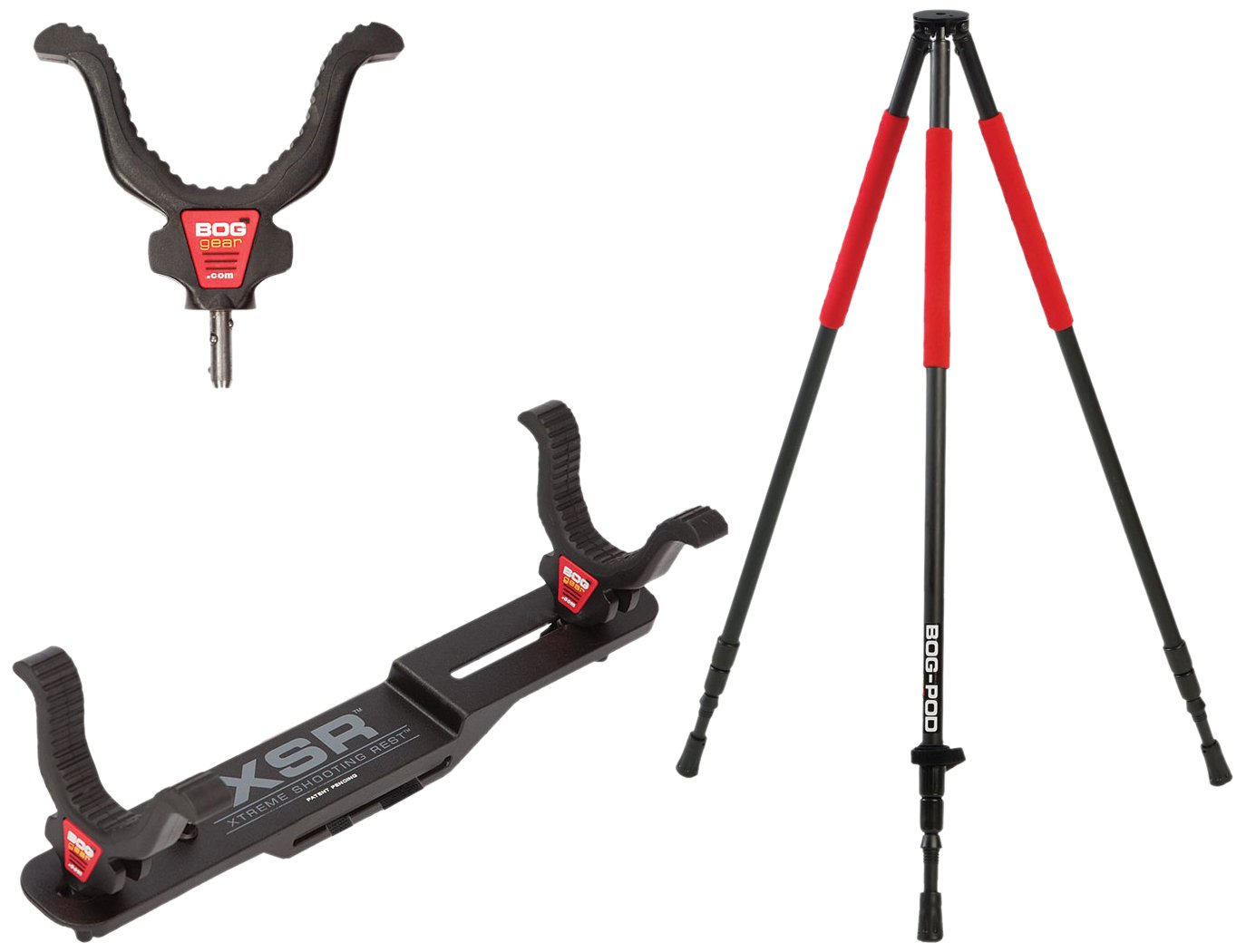 BOG Super Steady Tripod Kit with Lightweight Construction, Easy Assembly and Multiple Setup Options for Hunting, Shooting and Outdoors by BOG