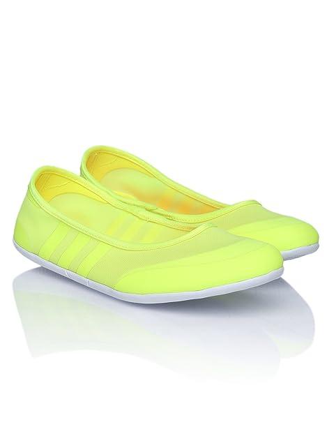 Buy Adidas NEO Women Fluorescent Green Sunlina Flat Shoes (8UK) at ...