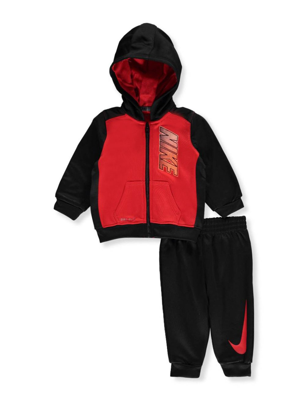 NIKE Baby Boys' Therma Dri-Fit 2-Piece Tracksuit - University red, 6-9 Months