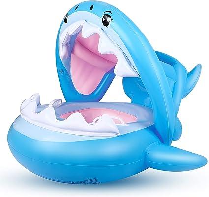 Amazon.com: Flotador de piscina para bebé con toldo inflable ...