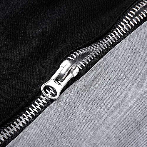 Coton Innerternet Gris Hop Hiver Automne Joggers Casual Pantalons Hip Sport Pantalon Foncé Patchwork Zipper Hommes Harem Danse xZ0ZBwIr