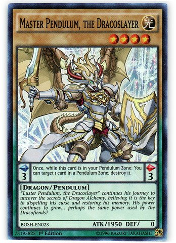 Yu-Gi-Oh! - Master Pendulum, the Dracoslayer (BOSH-EN023) - Breakers of Shadow - 1st Edition - Super Rare