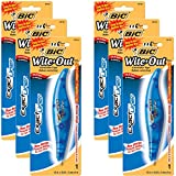 BIC White-Out Exact Liner Correction Tape Pen 1/5''x236'' 6-PACKS Pens (WOELP11)