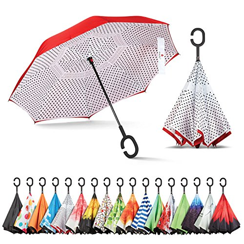 - Sharpty Inverted Umbrella, Umbrella Windproof, Reverse Umbrella, Umbrellas for Women with UV Protection, Upside Down Umbrella with C-Shaped Handle