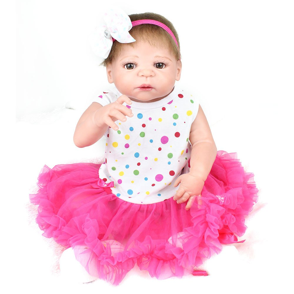 CY doll Simulation Baby Wiedergeburt Puppe Junges Mädchen Weiches Silikon Spielzeug Realistisch Prop Geburtstagsgeschenk