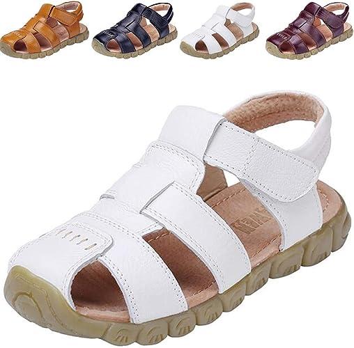 Gar/çon//Fille//B/éb/é DADAWEN Mixte Enfant Leather Oxford Sandale