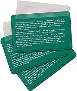Best Glide ASE Credit Card Size Fresnel Lens Fire Starter and Magnifier Lenses 3 Packs of Green