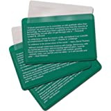Best Glide ASE Credit Card Size Fresnel Lens Fire Starter and Magnifier Lenses (3 Packs - Green)