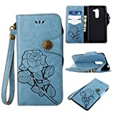 Best Leather Cases With Wrist Straps - Galaxy S9 Plus Wallet Case,SMYTU Premium Emboss Rose Review