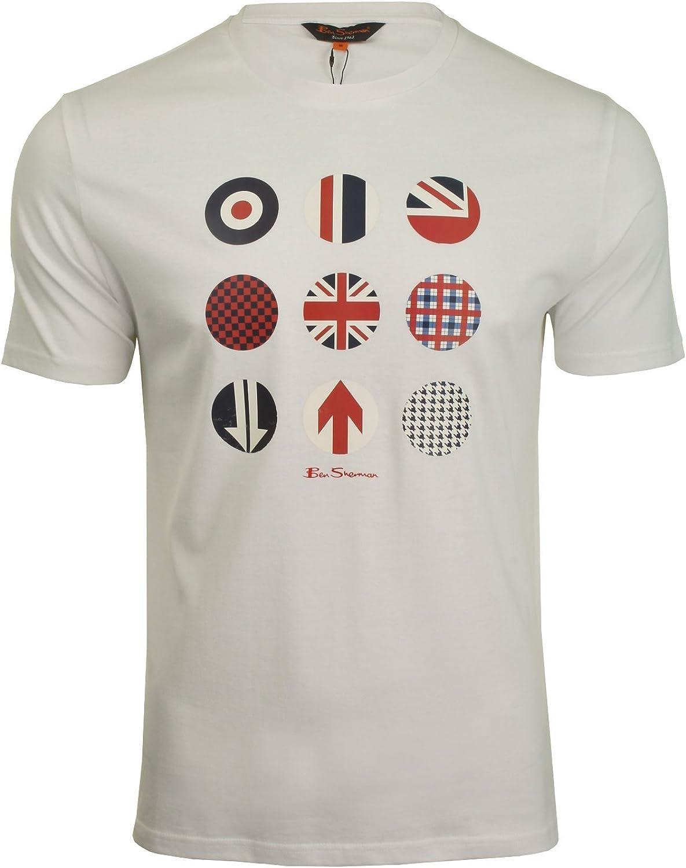 Ben Sherman - Camiseta de manga corta para hombre Blanco blanco M: Amazon.es: Ropa y accesorios