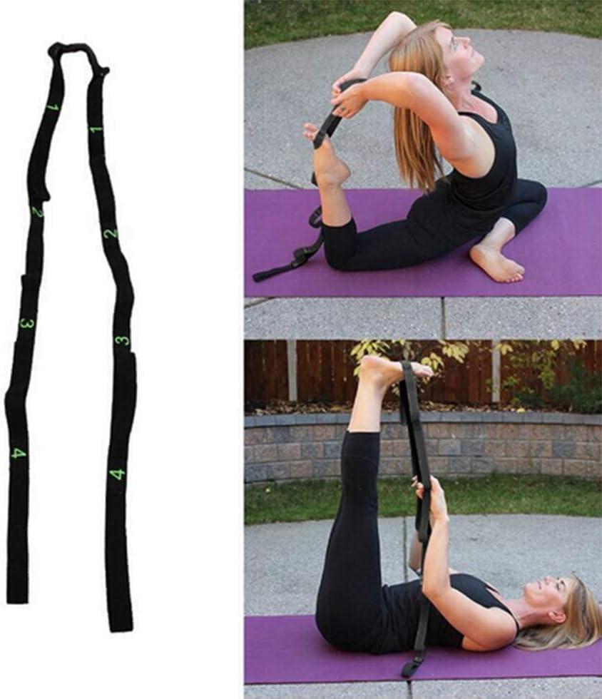 FYYUJIADAI Yoga Yoga Gummiband Sportseilgurt Stretchg/ürtel Yoga-Hilfsmittel Band ziehen