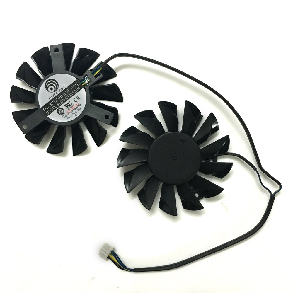 PLD08010S12HH 12V 0.35A 75mm 4Pin Replacement Cooling Fan For MSI R6790 GTX570 R6850 GTX460 HD7850 Graphics Card Fan