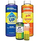 1-Set Indefectible Popular GH pH Control Hydroponics Tool Adjustment Combo Acid Alkaline Up and Down Volume 8 oz with 1 oz Indicator