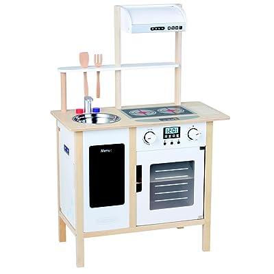 AMLeg Cocina Madera Infantil Cocina de Juguete con Accesorios, Grande, altura 87 cm: Juguetes y juegos