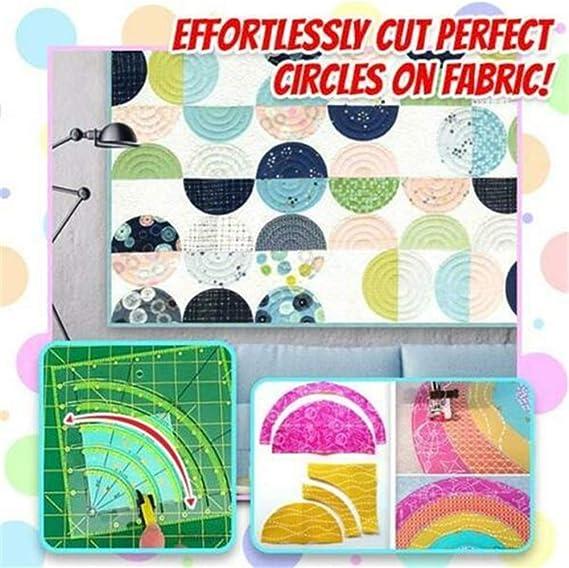 Arcs Fan Quilt Kreisschneider Lineal mit zweifarbigen Linien zum einfachen Schneiden zum N/ähen von Kunsthandwerk 2PCS Quilting Lineal