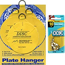 Flatirons Disc Set of Four 4 Inch Adhesive Plate Hangers and OOK Readynail 10lbs. Picture Hooks (6 Hooks in Package) - Bundle of 2 Items