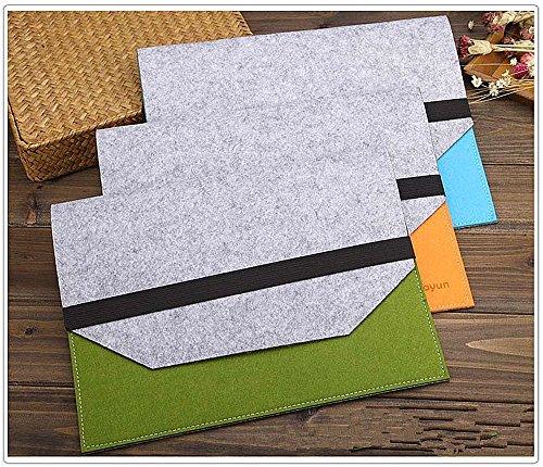 (file folders-felt folder expanding file folder Portable felt holder documents envelope Luxury Office Durable Briefcase Document laptop Bag Paper Portfolio Case A4 Folders)