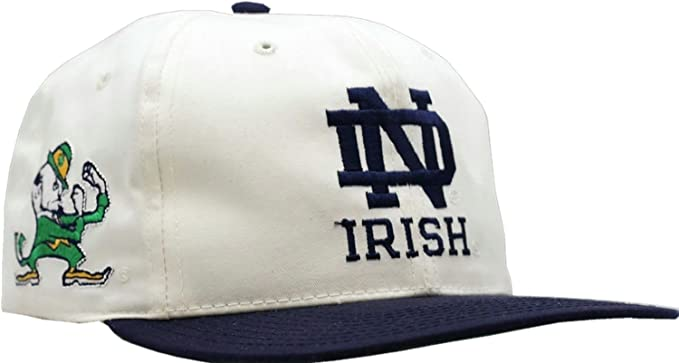 defccb962658d Image Unavailable. Image not available for. Colour  Vintage Notre Dame  Fighting Irish Blockhead Snapback Cap
