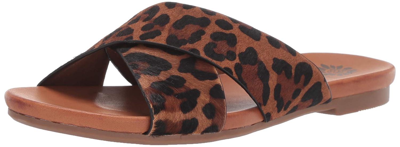 Leopard Yellow Box Womens Cammee Flat Sandal