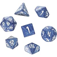 Q Workshop Classic RPG - Juego de Dados (Cobalto y Blanco), Color Blanco
