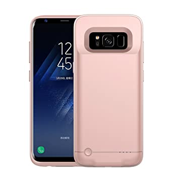 best service 6a080 186d2 Galaxy S8 Battery Case - TopYar Galaxy S8 Ultra Thin Battery Case [Rose  Gold],Charger Case 4200 mAh Extended Backup Battery Juice Pack Rechargeable  ...