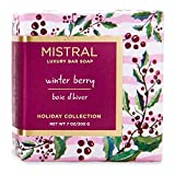 Mistral Luxury Bar Soap Winter Berry - Holiday Collection 200 g / 7 oz by Mistral