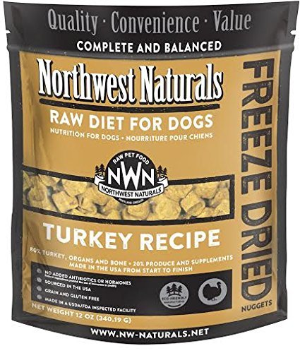 Frozen Raw Turkey (Northwest Naturals Raw Rewards Freeze Dried Nuggets - Dinner for Dogs (Turkey)12 OZ)