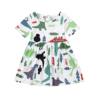 23cfc4afa9e5e Amazon yumiki ワンピース ベビー服 子供服 女の子 半袖 恐竜柄 動物柄 植物 可愛い オシャレ 通園