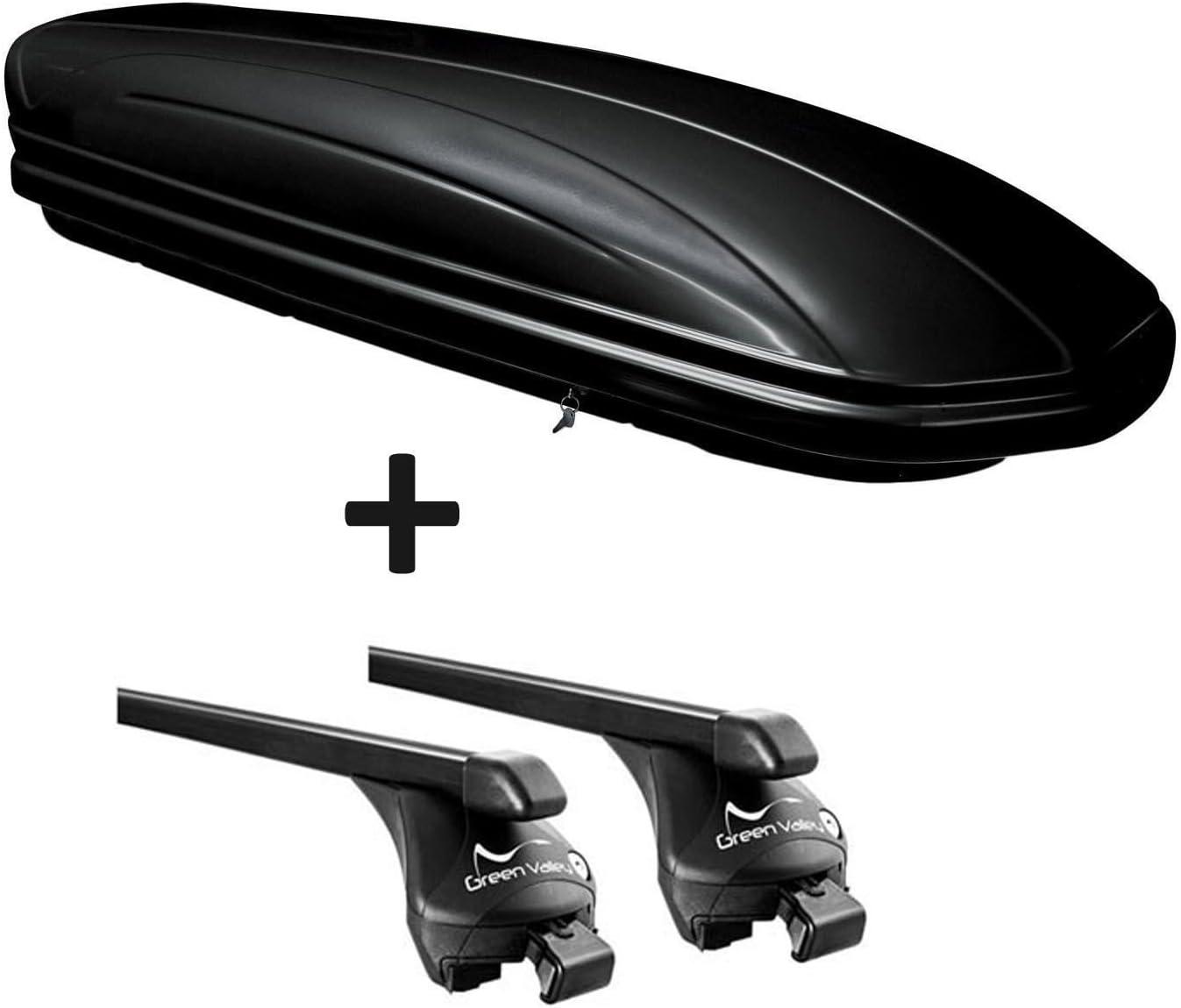 Dachbox VDPMAA320 320Ltr abschlie/ßbar schwarz ab 2017 offene Reling SUV 5 T/ürer Relingtr/äger Quick kompatibel mit Skoda Kodiaq