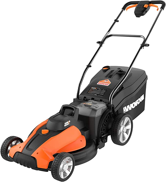 """WORX WG744 40V Power Share 4.0 Ah 17"""" Lawn Mower - Best 2-in-1 Lawn Mower"""