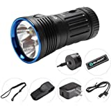 OLIGHT X7R Marauder 12000 Lumens Ultra Bright Rechargeable Flashlight with 3 x High Performance CW LED, Powered by 4 x Build-