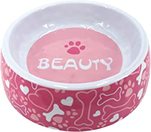 PetWare Bowl Dog Food Bowl 100% Melamine Non Slip Non Toxic Loving Pets Bowl Unbreakable Feeder Bowl Non -Tip for Small/Medium/Large Dogs Cats Puppy Pets (Pink)
