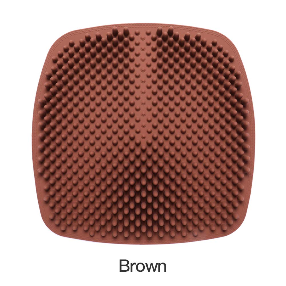 JOKLU Gel Seat Cushion -Unique Bullet Column Massage, Non-Slip & Breathable - Cushion for Office Chair Car Seat - for Tailbone Pain & Sciatica Pain Relief - for Home and Outdoor(Coffee)