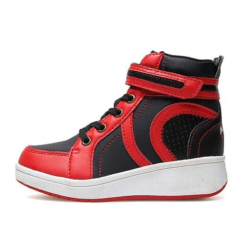 Zapatillas Altas para niños con Velcro Chicos Zapatillas de Baloncesto de Moda para niños Zapatillas para Correr: Amazon.es: Zapatos y complementos