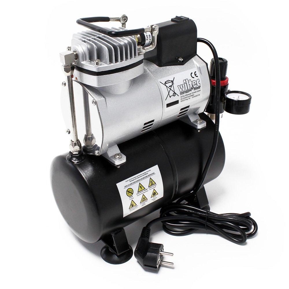 Compresor Aerógrafo AF186 Tanque Aire Regulador de Presión Parada automática: Amazon.es: Juguetes y juegos
