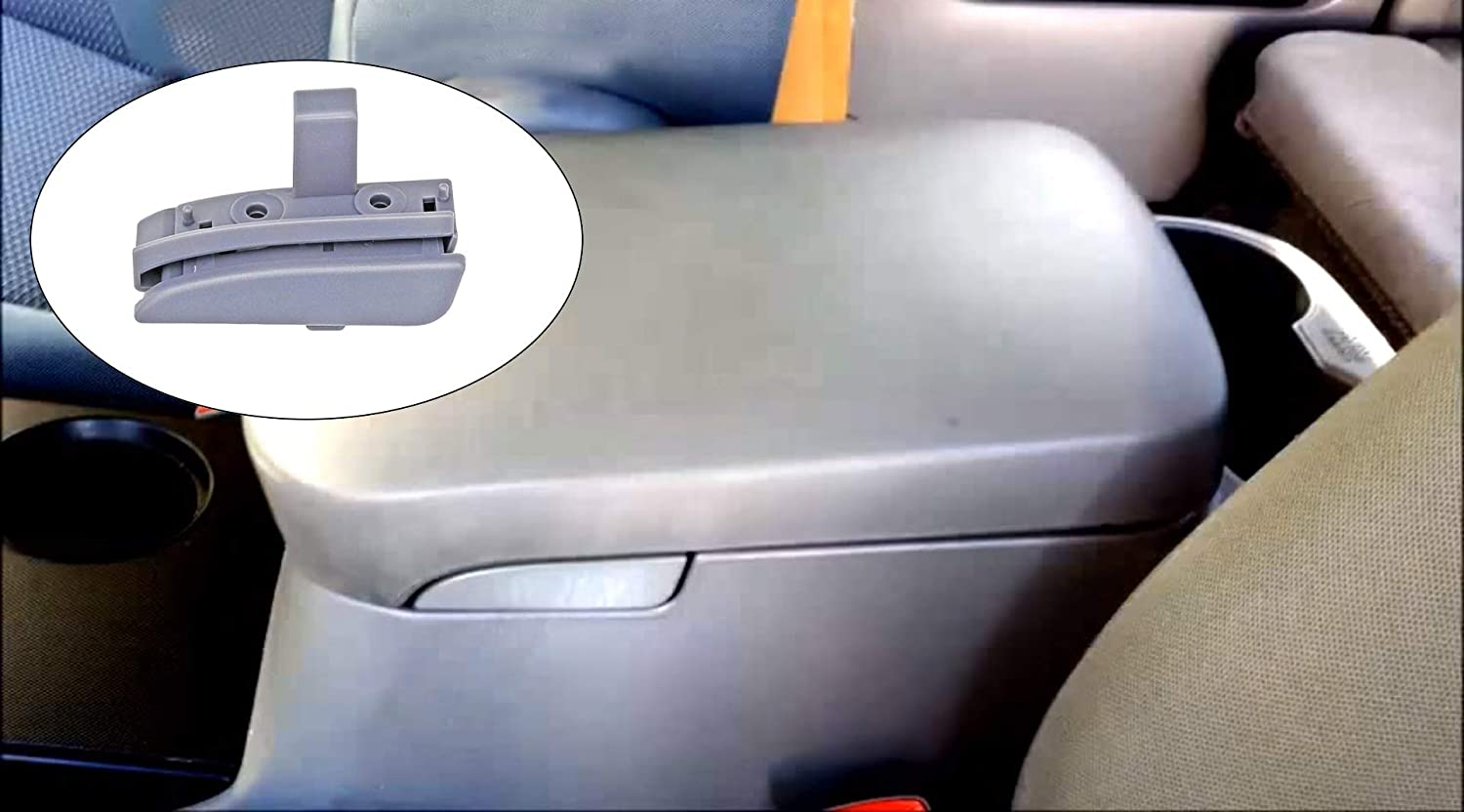 Kerman Center Console Latch for 2005-2012 Toyota Tacoma Gray Console Lid Lock Replace 58910AD030B0 Gray